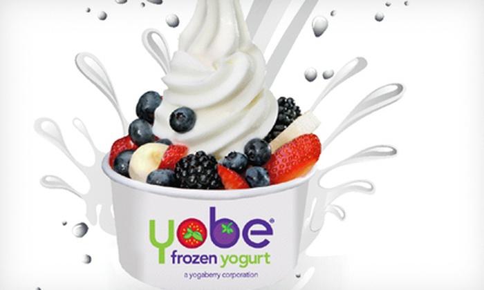 Yobe Frozen Yogurt - Multiple Locations: $5 for $10 Worth of Fro-Yo at Yobe Frozen Yogurt