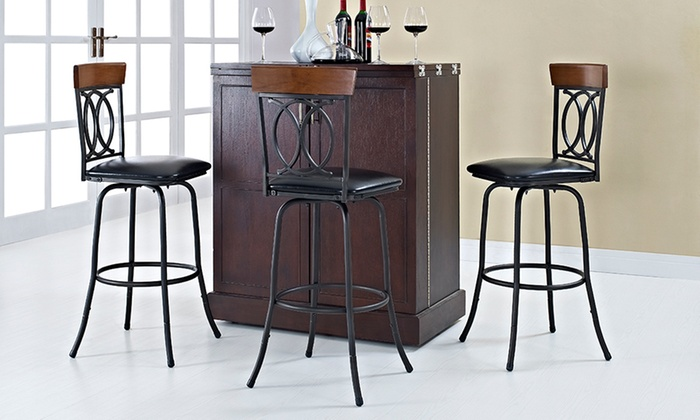 Oscar Adjustable Barstools (3 Piece) ...
