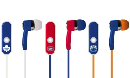 Mizco NHL Earbud Headphones with Microphone and Controls
