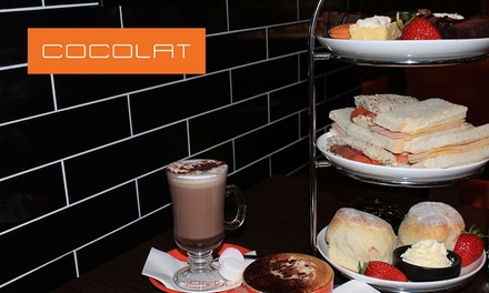 High Tea for Two ($34) or Four People ($57) at Cocolat Raine Square (Up to $115.60 Value)