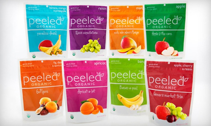 Peeled Snacks: $15 for $35 Worth of Organic Fruit Snacks from Peeled Snacks
