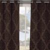 "Jacquard Heavy-Woven Blackout 76""x84"" Grommet Window Panel Pair"