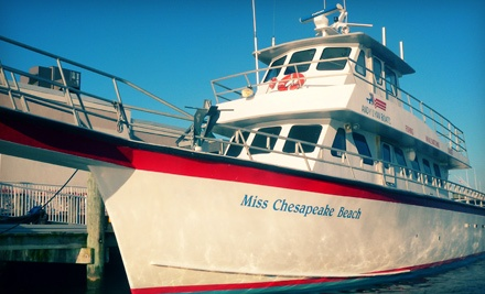 Fishing Trip for One or Two Aboard the Miss Chesapeake Beach (Up to 54% Off)