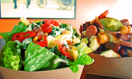 Poutine and Breakfast Combos at Spud's Potato Bar and Poutinerie (Up to 43% Off). Four Options Available.