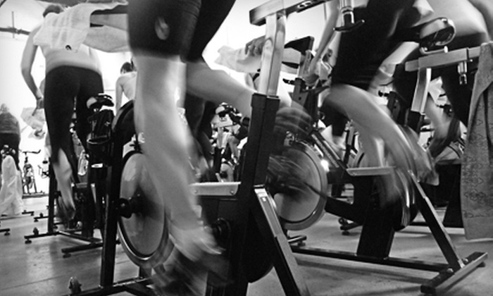 Quad - Multiple Locations: Five Spin Classes or One Month of Unlimited Spin Classes at Quad (Up to 75% Off)
