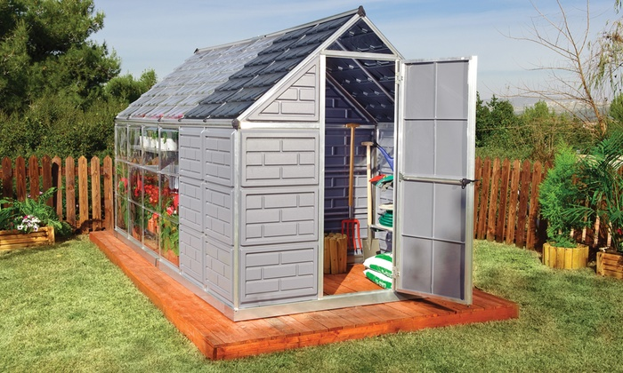 palram grow and store 6x12 greenhouse and storage shed palram grow and