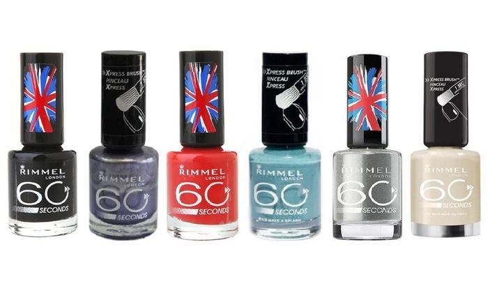 Rimmel London Nail Varnish 6-Pack | Groupon Goods