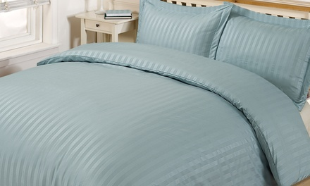 Satin Stripe Bedding Set from €22.99 With Free Delivery (Up to 57% Off)