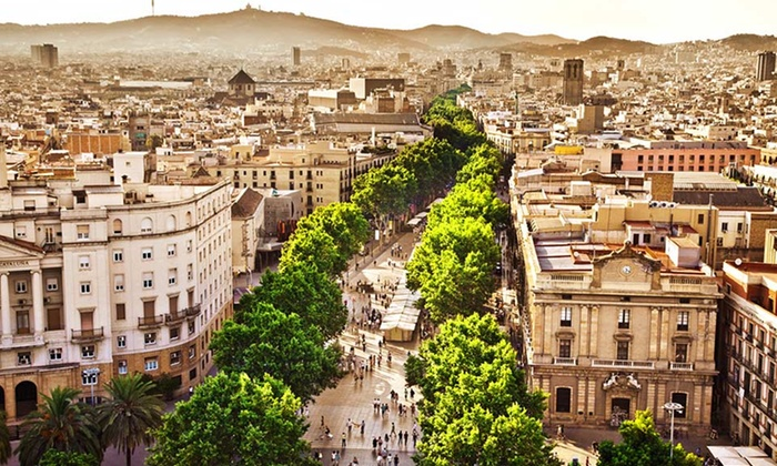 Paris & Barcelona Vacation with Airfare - Villa Luxembourg, or Villa Lutece: 7-Day Vacation in Paris and Barcelona with Airfare from go-today. Price/Person Based on Double Occupancy.
