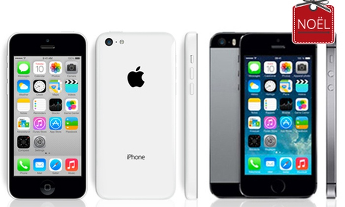nouvel iphone 5c ou 5s neuf et compatible tout op rateur groupon shopping. Black Bedroom Furniture Sets. Home Design Ideas