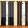 "Faux Suede 40""x84"" Room Darkening Window Panel Pair"