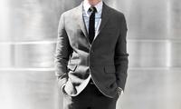 2-teiliger Maßkonfektionsanzug aus reiner Schurwolle, opt. mit Maßhemd und Krawatte, von Masswerk (bis zu 68% sparen*)