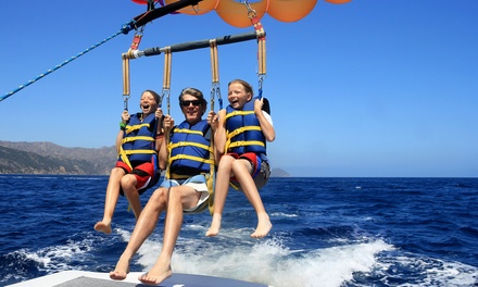 1 tour de parachute ascensionnel pour 1, 2 ou 3 personnes dès 49,90 € avec Cap Ferrat Watersports