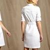 Sharagano Belted Zip-Front Shirt Dress