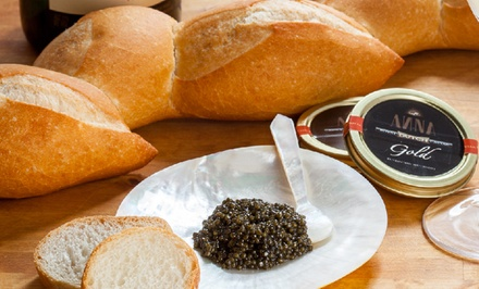 Tins of Russian Osetra Caviar at Black Caviar US (Up to 52% Off). Three Options Available.