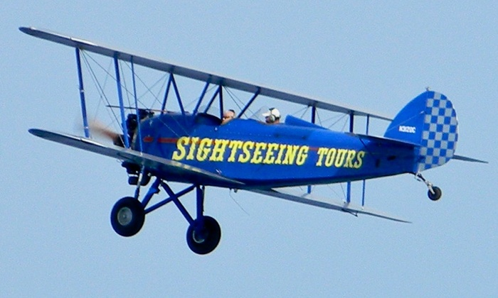 Sky High Air Tours - Gatlinburg-Pigeon Forge Airport: $79 for a 15-Minute Open Cockpit Biplane Ride for Up to Two from Sky High Air Tours ($150 Value)