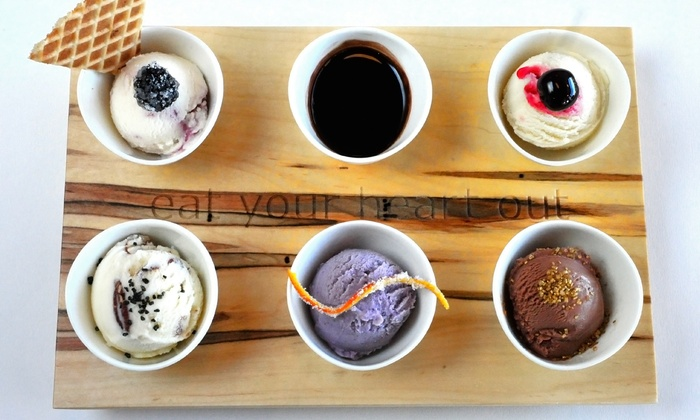 High Point Creamery - Hilltop: $11 for One Ice-Cream Flight with a $10 Gift Card at High Point Creamery ($19 Value)