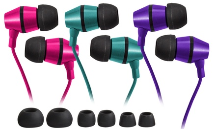 JLab Premium Metal Noise-Isolating Earbuds (2-Pack)