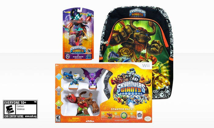 Skylanders Giants Video Game and Accessories Bundle: Skylanders Giants Bundle for Nintendo Wii, Wii U or 3DS, PlayStation 3, or Xbox 360.  Free Shipping and Returns.