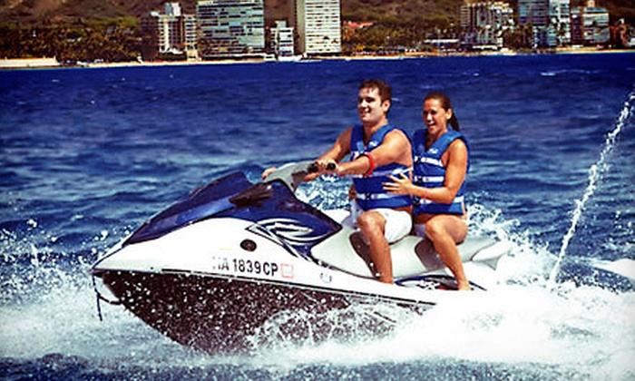 Hawaiian Ocean Thrills - Waikiki: Jet Skiing, Banana Sledding, and Bumper Tubing for One, Two, or Four from Hawaiian Ocean Thrills (Up to 52% Off)