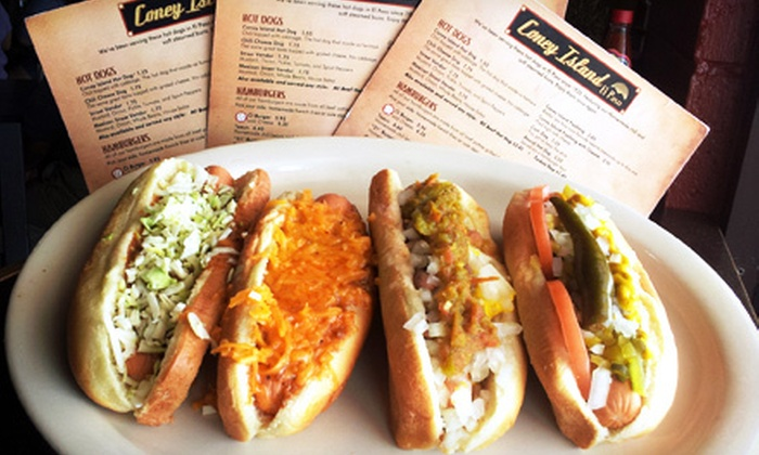 Coney Island - Ridgecrest: $10 for $20 Worth of Hot Dogs, Sandwiches, and Snacks at Coney Island