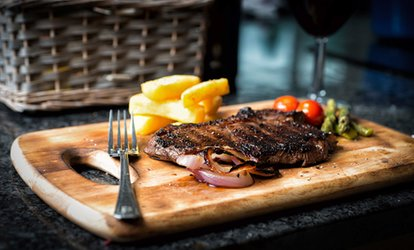 image for Steak Dinner with Sides and Wine for Two at the Harp Bar, Swords (42% Off)