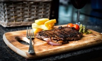 Two-Course Steak Dinner with Wine or Beer for Two or Four at Top Pub