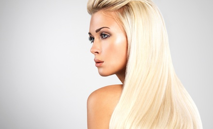 Haircut Package with Optional Root Touchup or Partial or Full Highlights at The Glam Café (Up to 76% Off)