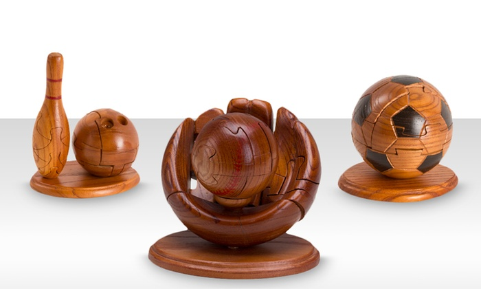 Wooden Sports-Themed 3D Puzzles: Wooden Sports-Themed 3D Puzzles. Multiple Styles Available. Free Returns.