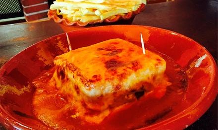 Tappas Caffé Largo do Sandeman — Gaia: menu para duas pessoas com francesinhas, batatas e bebidas por 9,90€