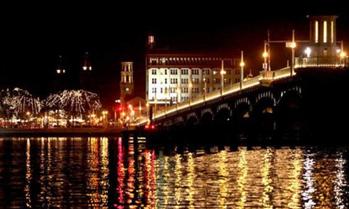 Jax Water Tours - Vilano Fishing Pier : Nights of Lights Cruise for Two, Four, or Six on a Friday–Sunday or Monday–Thursday from Jax Water Tours (Up to 55% Off)