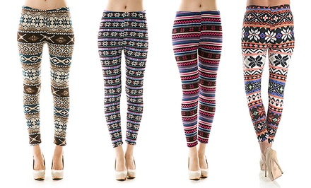 Women's Printed Lined Leggings