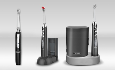 groupon daily deal - Brush Buddies Soniclean Pro Toothbrushes. Multiple Models Available from $17.99–$49.99.
