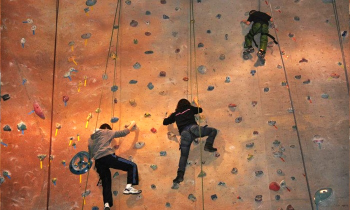 Planet Rock & Detroit Rock Climbing Company - Multiple Locations: Adult Starter Package with One Day of Climbing or a One-Month Membership to Planet Rock (Up to 59% Off)