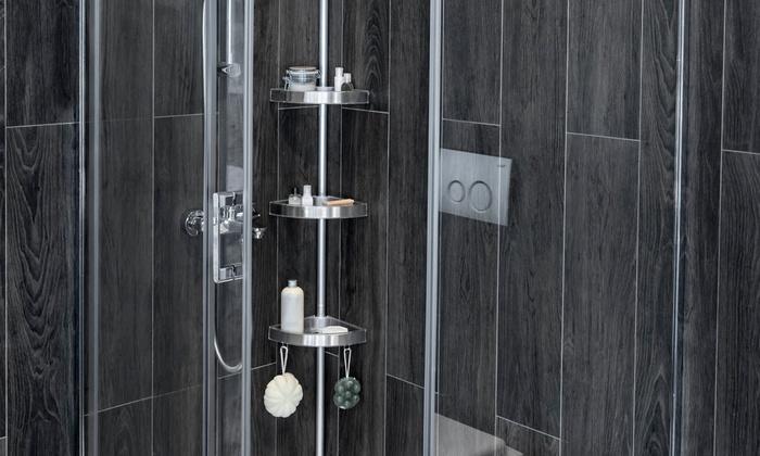 bathroom corner shelving unit groupon. Black Bedroom Furniture Sets. Home Design Ideas