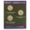 Susan B. Anthony Dollar Coin and Stamp Set (4-Piece)