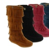Toddlers' Tiered Fringe Moccasin Boots