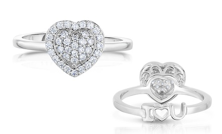 1/4 CTTW Diamond Heart Ring