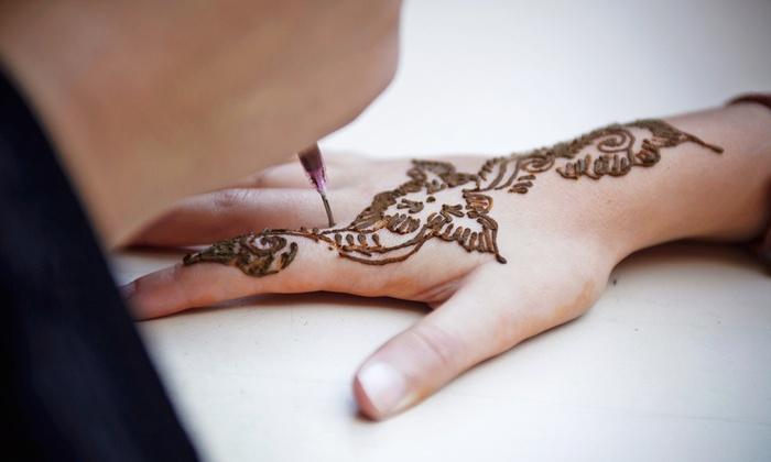 Marvi Threading - Marvi Threading: One Medium Henna Tattoo at Marvi Threading (Up to 73% Off)
