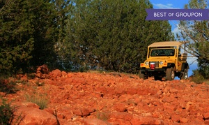 A Day in the West Jeep Tours: Sedona 2-hour Jeep Tour plus Trolley Tour from A Day in the West (Up to 50% Off). Three Options Available.