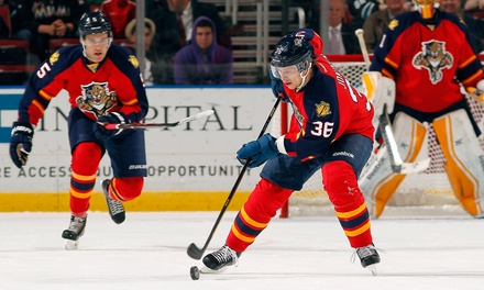 Florida Panthers Game Package with Parking Pass, Beer Stein, and Post-Game Slap Shot at BB&T Center (Up to 31% Off)
