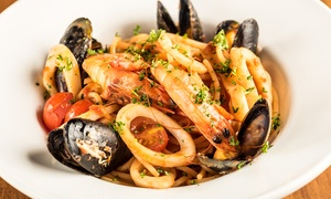Edendum: Two-Course Italian Meal With Wine For One, Two or Four at Edendum (Up to 61% Off)
