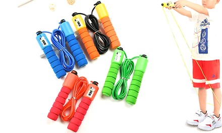 Adjustable Jump Rope with Counter: One ($9.95) or Two ($12.95)