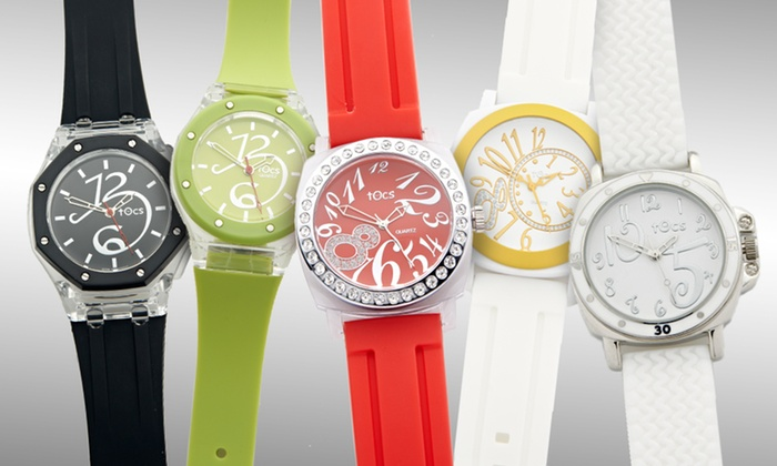 Tocs Men's, Unisex, and Women's Watches: $20 for a Tocs Men's, Unisex, or Women's Watch (Up to $75 List Price). 18 Styles Available. Free Shipping and Returns.