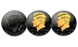 2014 50th Anniversary JFK Black Ruthenium Half-Dollar Coin
