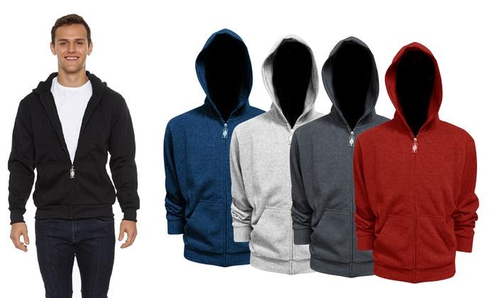 Men's Classic Full-Zip Hoodie | Groupon