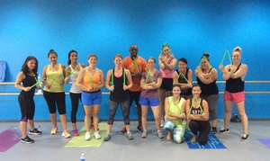 Diamond Dance Works: 10 or 20 Dance-Fitness Pound Classes at Diamond Dance Works (Up to 67% Off)