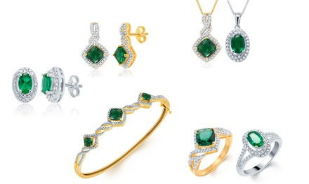 3- and 4-Piece Created Emerald and 1/10 CTTW Diamond Accent Jewelry Sets from $39.99–$59.99