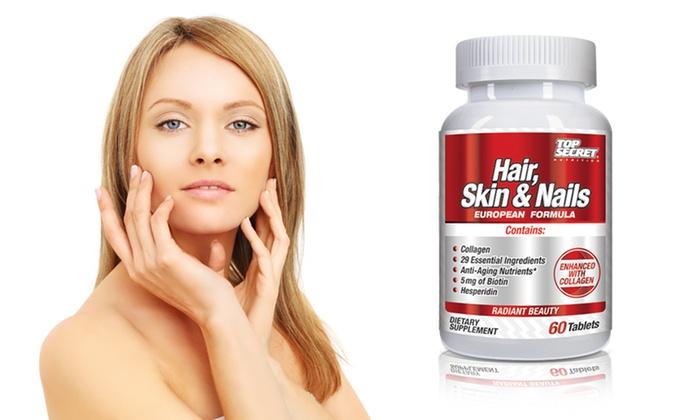 Top Secret Nutrition Hair, Skin & Nails: Top Secret Nutrition Hair, Skin & Nails