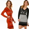 White Mark Sweater Dresses